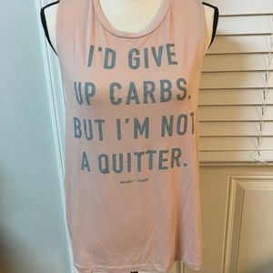 Muscles + Donuts - tank top size XL